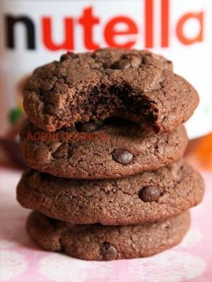 Recette cookies moelleux au nutella et aux p pites de chocolat - Recette cookies chocolat moelleux ...