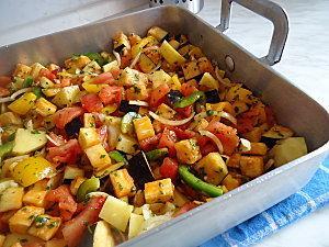 Recette dorades au four et l gumes grill s - Recette legumes grilles au four ...