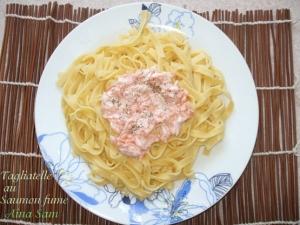 Recette tagliatelles au saumon fum 1 amour de cuisine for 1 amour de cuisine chez soulef