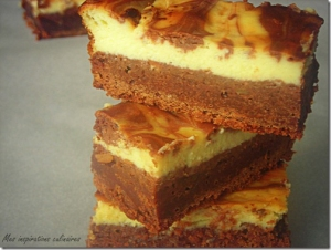 Brownie marbré au cheesecake facile