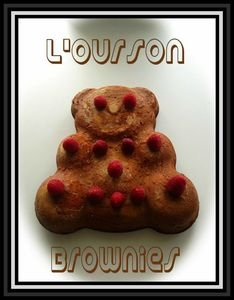 L  ourson &quot Brownies&quot au chocolat au lait et blanc