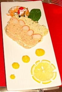 terrine de poissons bicolore