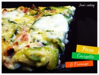 Pizza Courgette Bacon & Mozzarella