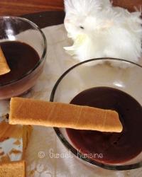 Les petites cr�mes au chocolat sans oeuf