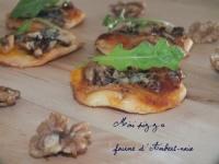 Mini pizza fourme d  Ambert