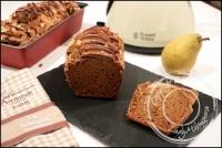 Cake aux amandes et poires saveur pain d �pice sans gluten et sans lactose