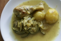 Poulet coco et curry