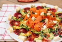 Salade de carottes orange avocat et reblochon