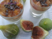 Panna cotta au coulis de figues