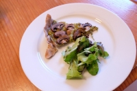 Tarte sal�e vegan aux champignons et poireaux