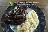 C�tes d  agneau marin�es au citron (recette marocaine) Vie quotidienne de FLaure