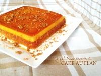 Cake au flan caramel