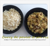 Curry de poulet et son riz