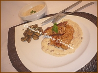 Escalopines de poulet pan�es aux cacahu�tes