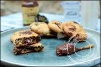 Cookies coeur coulant chocolat noisettes sans gluten et sans lactose