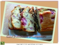 Cake framboises et carambars