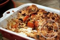Potimarron rôti et crumble aux noisettes sans gluten