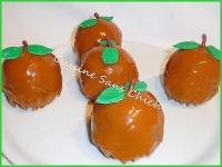 Dessert d  automne aux pommes glaçage miroir caramel