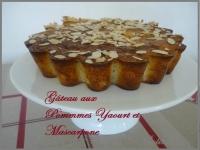 Cake aux pommes et mascarpone