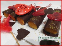 Roulé de la Saint Valentin à la compotée de framboises et ganache montée à la pralinoise