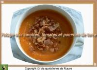 Potage aux carottes tomates et pommes de terre