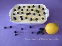 Tiramisu au citron de Menton et aux myrtilles