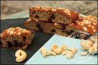 Banana cake aux noix de cajou et pépites de chocolat sans lactose