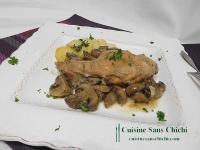 Gigolettes de lapin aux champignons de Paris
