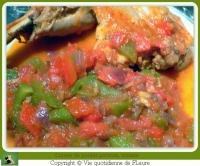 Cuisses de poulet poivrons tomates