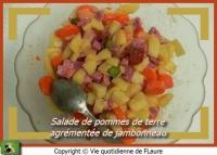 Salade de pommes de terre agrémentée de jambonneau