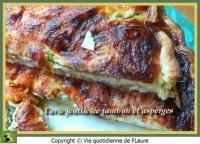 Tarte feuilletée jambon et asperges