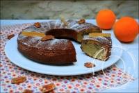 Gâteau à la noix de pécan orange confite et miel sans gluten et sans lactose