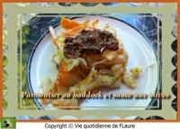 Parmentier au haddock et sauce aux olives
