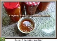 Confiture d  abricots poudre d  amande