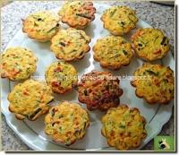 Briochettes de courgettes et poivrons