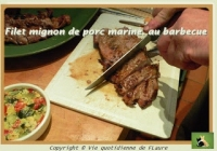 Filet mignon de porc mariné au barbecue