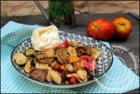 Salade de gnocchi aux légumes d  été grillés et burrata