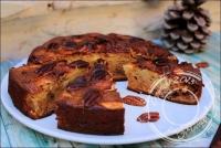 Gâteau aux pommes miel et noix de pécan avec ou sans lactose