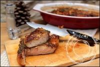 Côte de veau aux champignons et jus de viande