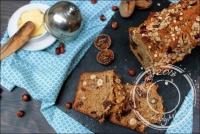 Irish soda bread complet aux noisettes figues et abricots séchés sans oeufs