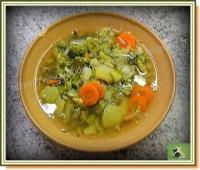 Soupe brocoli carotte poireau non mixée