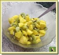 Salade de fruits ananas kiwi et gingembre