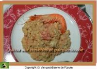 Quinoa aux crevettes et pamplemousse