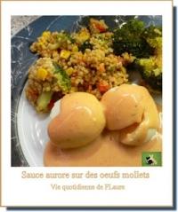 Sauce aurore nappe des ufs mollets (au robot Kenwood)