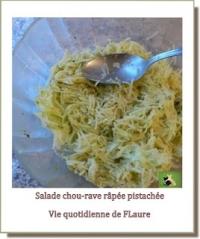 Salade de chou rave râpé et pistaché