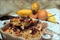 Baked oatmeal à la banane chocolat et noisettes