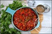 Salade juive salade de poivrons grillés et tomate