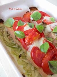 Pavés de saumon à l  italienne