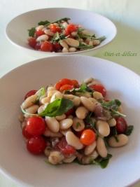 Salade de haricots blancs à l  italienne