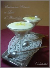 Crème citron au lait d  amandes